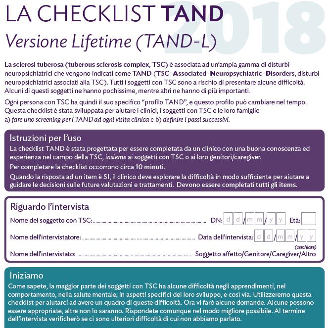 La Checklist TAND